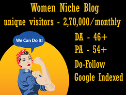 Publish Guest Post on Women Niche Blog