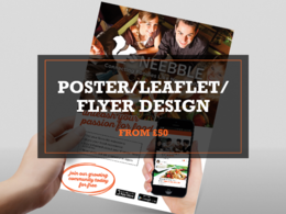 Design you a poster, leaflet or flyer