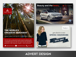 Create a newspaper/magazine/social media advert design