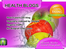 Write and Publish Guest Post on Health Blog DA80 with DoFollow Backlink