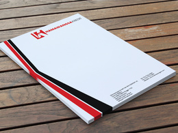Design a clean and modern Letterhead with unlimited revision