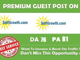 Write and Publish guest post on SelfGrowth DA76 PA81
