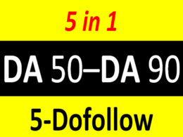 Publish 5 dofollow guest posts on 5 HQ websites of DA 50-90