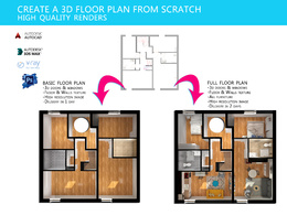Do 3D floor plan , floorplan in 3ds max
