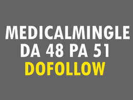 Write and publish content on MedicalMingle with Dofollow Link DA48 PA51