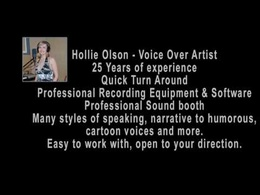 Record high quality voice over in American accent