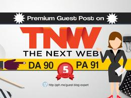 Publish a guest post on TheNextWeb - TheNextWeb.com DA 91(Index)