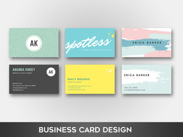 Create an eye-catching business card design