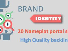 Build your brand identity on 20 High DA portfolio sites
