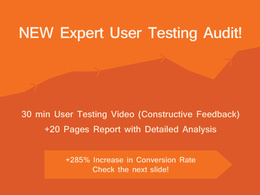 New Expert User Testing Audit 30 min video + 20 pages report