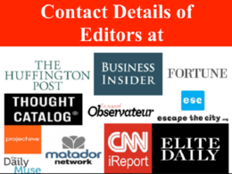 Give You TThe Direct Contact Information Of Every Editor At Forbes, Fast Company etc.