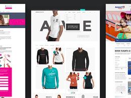 Eye-catching, professional Home page design. aka UX/UI design