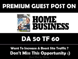 Guest Post on Homebusinessmag. Homebusinessmag.com - DA 50
