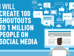 Create 100 shoutouts to 1 million people on social media