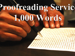 Proofread 1,000 words of text content