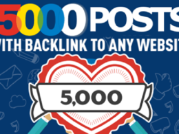 Create 5000 sponsored guest posts with backlink to your website
