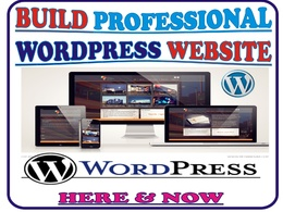 Design your professional WORDPRESS website