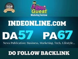 Write and Publish an EXCLUSIVE News Guest Post on Indeonline.com - DA57, PA67