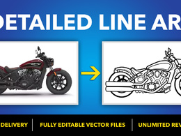 Draw detailed Line Art Of Your Product, design or any image