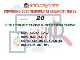 20 High Trust Flow And Citation Flow Backlinks On High Da