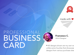 A professional one/double sided Business Card