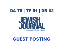 Publish a guest post on Jewish Journal - DA75, TF51, DR62