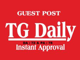 Write and Publish On Tgdaily - Tgdaily.com ( DA72 ) Dofollow