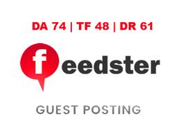 Publish a guest post on Feedster - DA74, TF48, DR61