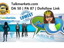 Guest Post in  talkmarkets.com DA 50