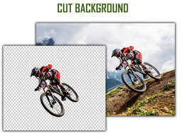 Cut out/background remove 100 images with crop & resize