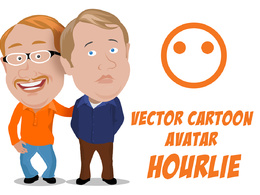 Create a simplistic vector cartoon avatar of a person
