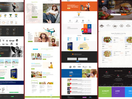 Design a home page with two mock ups