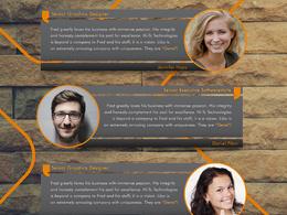 Design a contemporary testimonial (as newsletter, advert, flier)