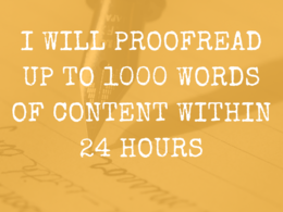 Proofread up to 1000 words of content
