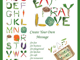 Add watercolor font creativity to your letters notes and logo