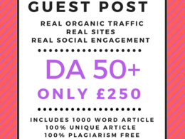 Guest Post Any Business Niche HIGH DA 50+ with Article 500 Words