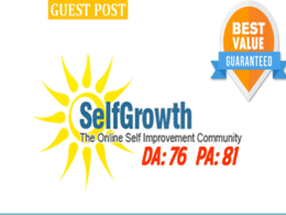 Publish Guest Post On Selfgrowth DA 76 With Dofollow Link