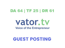 Publish a guest post on Vator - DA64, TF25, DR61
