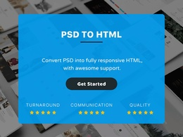 Convert PSD to HTML5+CSS3 using Bootstrap and SASS include Js