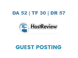 Publish a guest post on HostReview - DA52, TF30, DR57