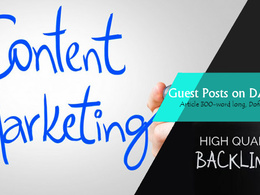 Write & Publish 5 Guest Post on High Authority DA50+ Sites