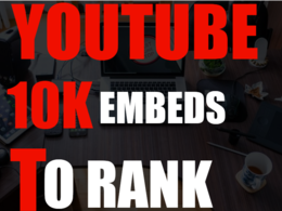 10,000 YouTube Embeds- Signals on 1000 Blogs & 50 PR9 Sites