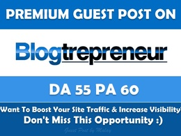 Guest Post on Blogtrepreneur. Blogtrepreneur.com - Dofollow
