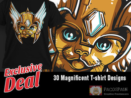 Send you 30 magnificent High quality t-shirt designs