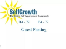 Publish Guest Post on Selfgrowth.com with dofollow link