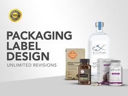 Design an amazing packaging OR label for your product