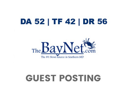 Publish a guest post on TheBayNet - DA52, TF42, DR56