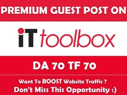 Publish Guest Post on IT.toolbox. it.toolbox.com - Dofollow