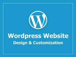 Design and Customize Wordpress Website, Theme, Plugin