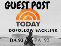 DOFOLLOW Guest Post in TODAY.COM DA 93